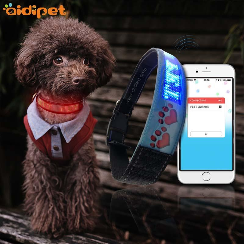 -High-quality | Bluetooth Connection Led App Controlled Pet Collarworld