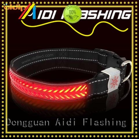 AIDI Brand safety pet bright custom led light for dog collar