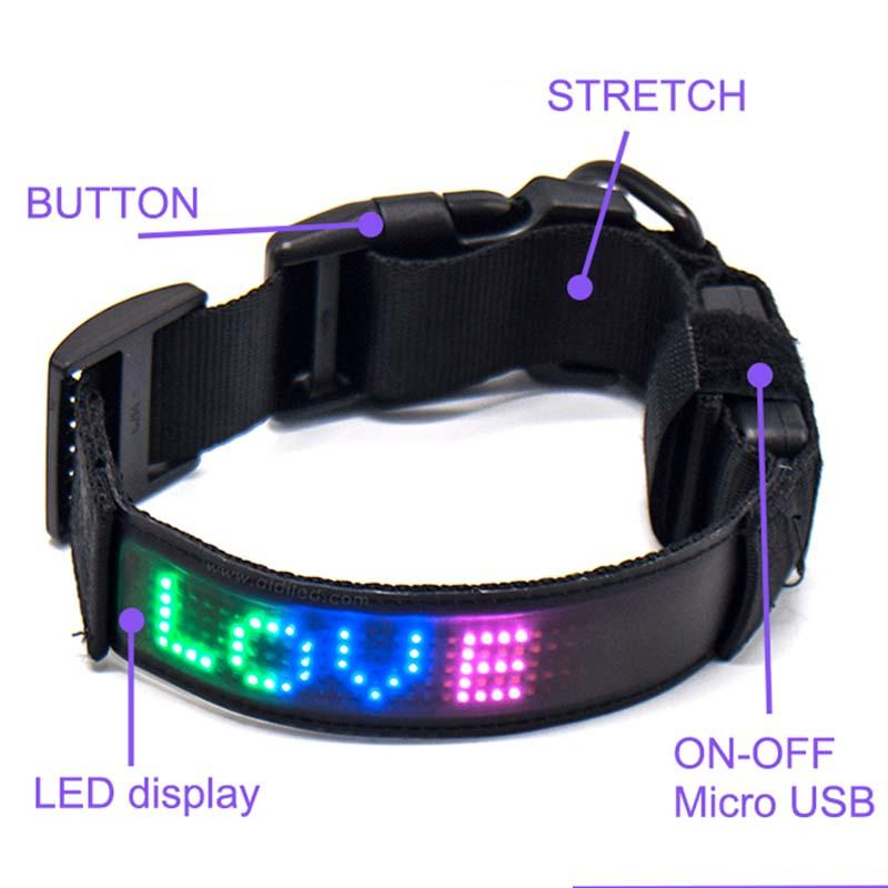 - Led App Controlled Safety Dog Collars Aidi-c25-1