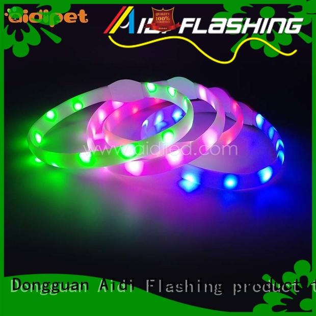 AIDI best glow in the dark dog collar factory for park