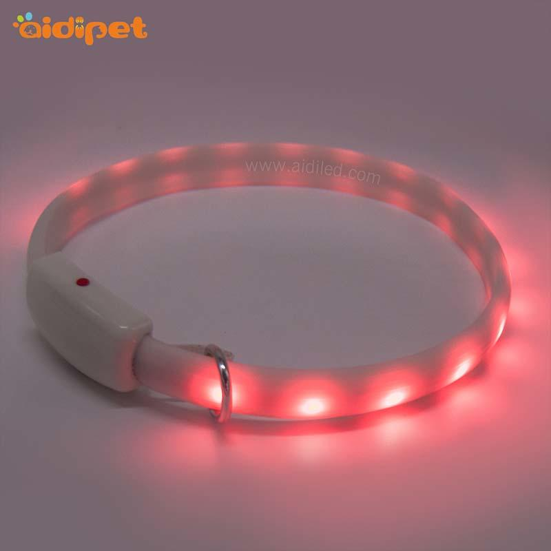 led RGB light up dog collar rechargeable AIDI-C7-2