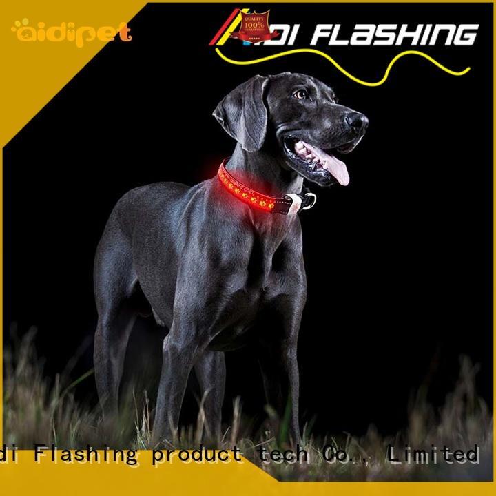 AIDI glow in the dark dog collar design for park