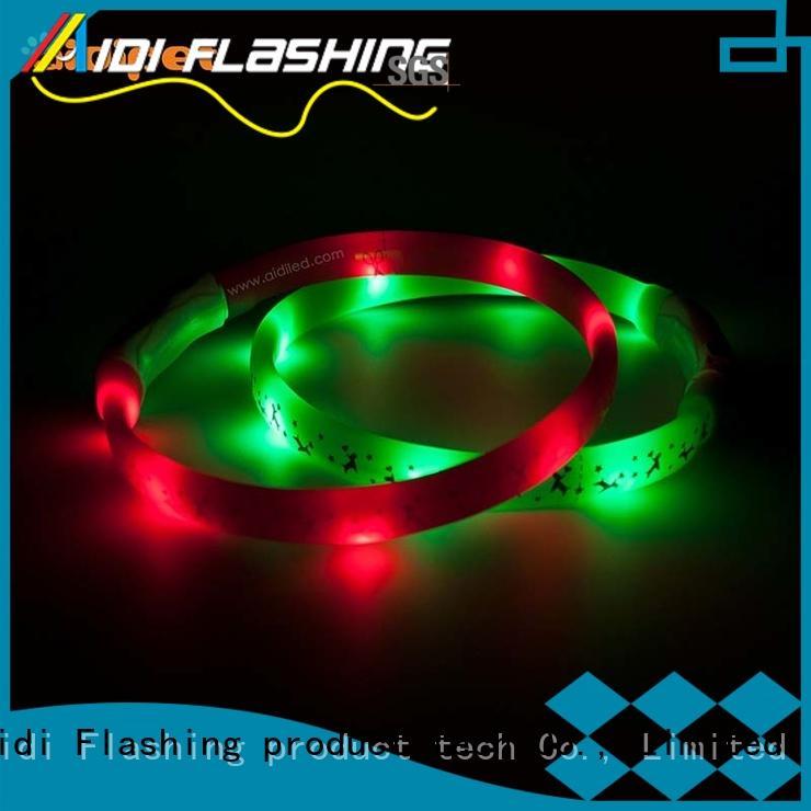 nylon flashlight dog collar design for walking