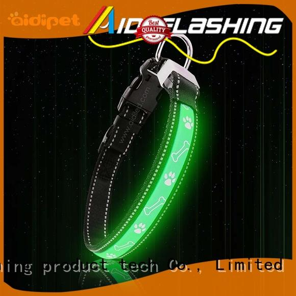 cover dog collar led flashing light waterproof for walking AIDI
