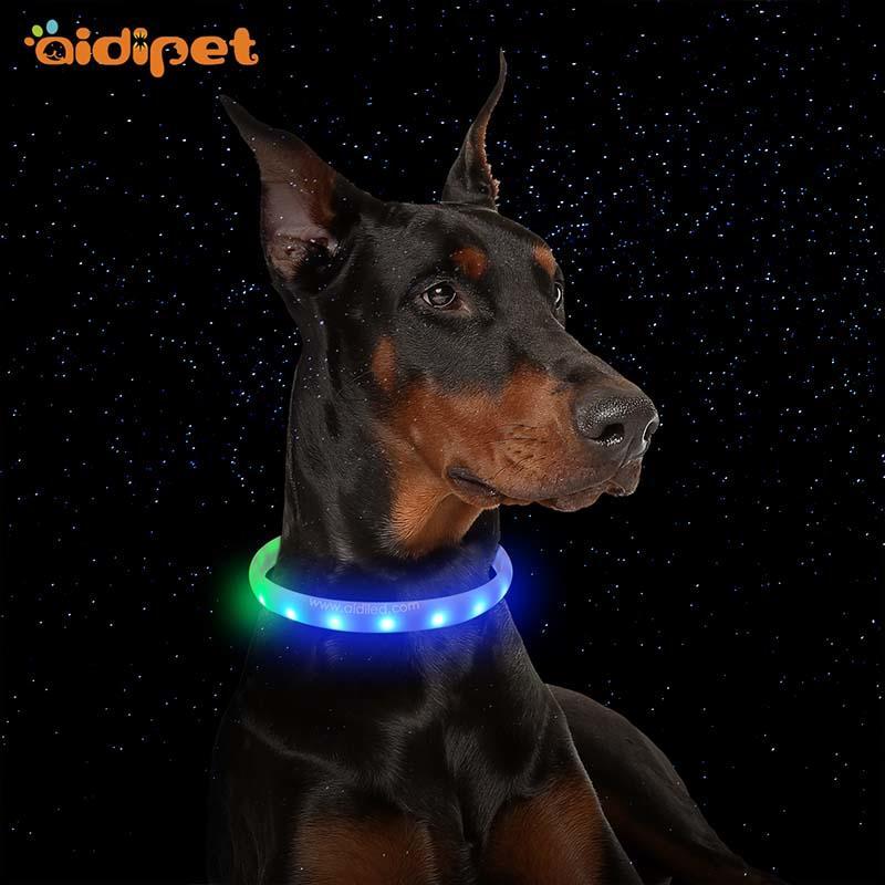 -Led Rgb Colorful Pet Collar Aidi-c6-shenghong-1