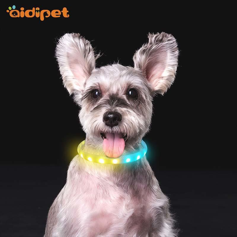 -Led Rgb Colorful Pet Collar Aidi-c6-shenghong