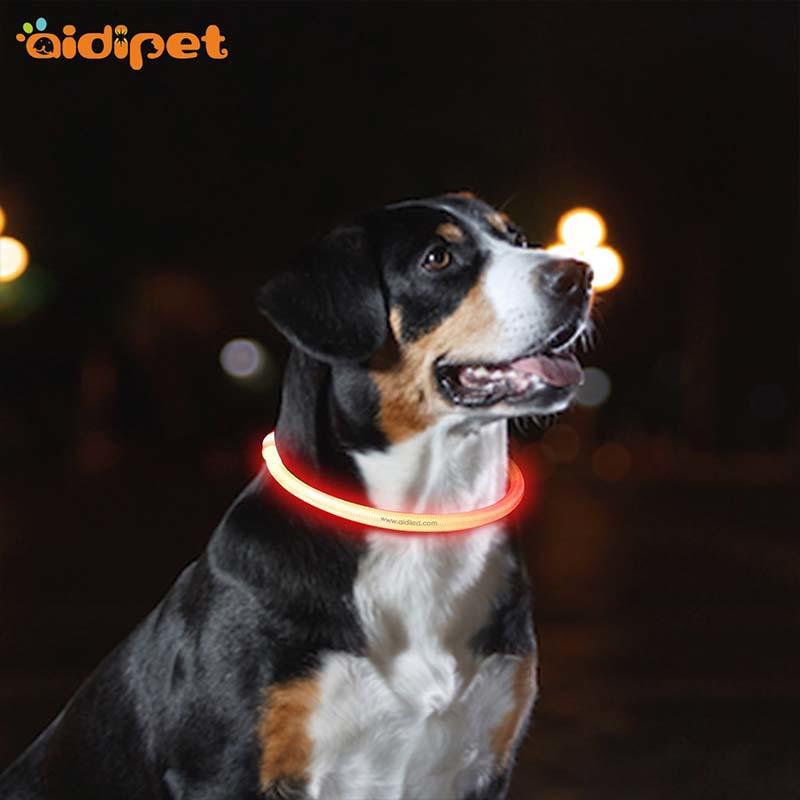 AIDI-Dog Collar Lights Waterproof Manufacture | Aidi-c1 Led Dog Collar
