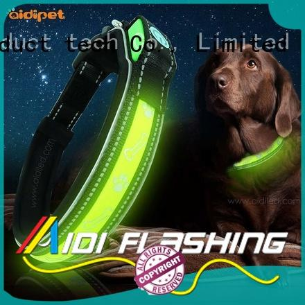AIDI durable flashing led dog collar pendant light buckles for walking
