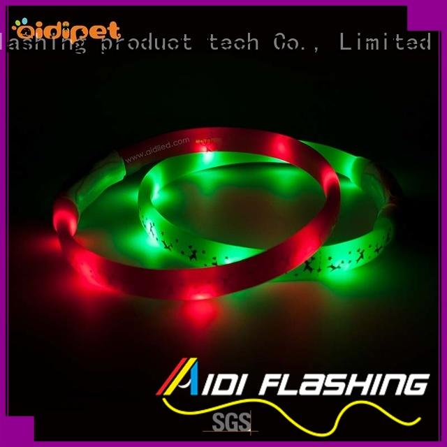 style small led dog collar design for walking AIDI