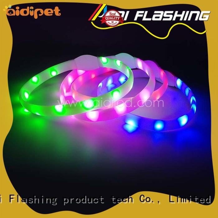 glowing rechargeable lighted dog collars factory for walking