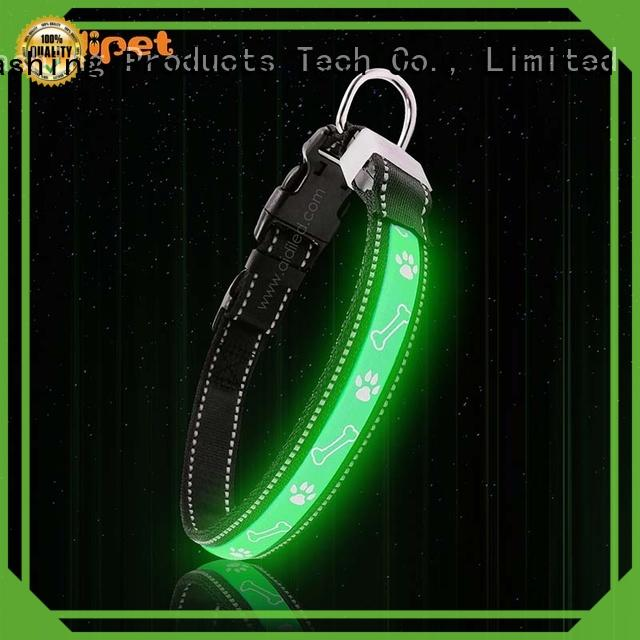 AIDI nylon rechargeable lighted dog collars with good price for outdoors