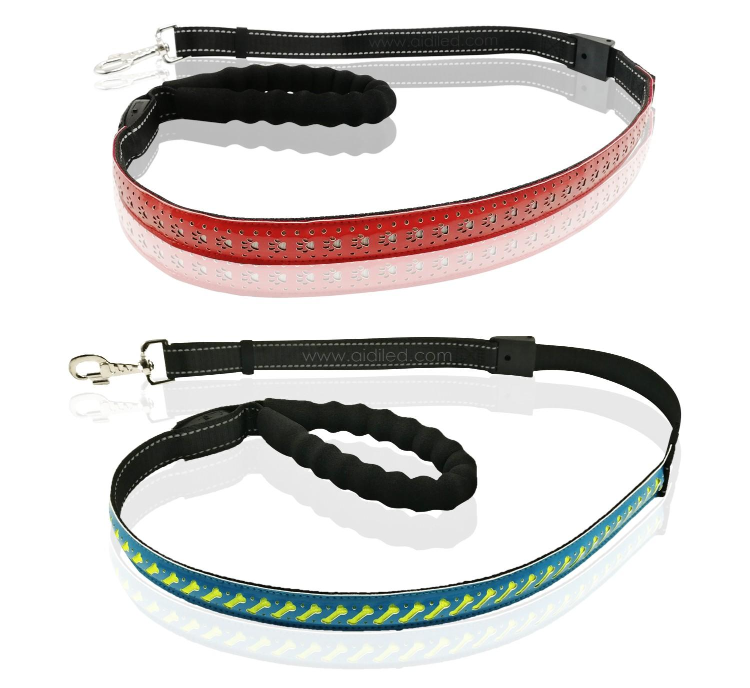 AIDI-High-quality Best Led Dog Leash | Led Pu Leather Dog Leash Aidi-l6-2