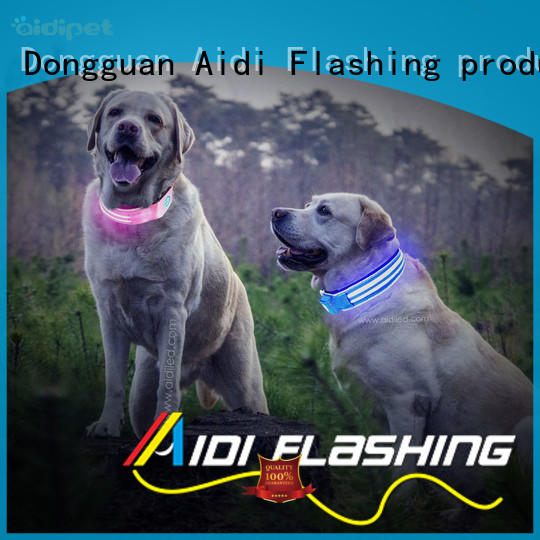 AIDI rechargeable best illuminated dog collar for park
