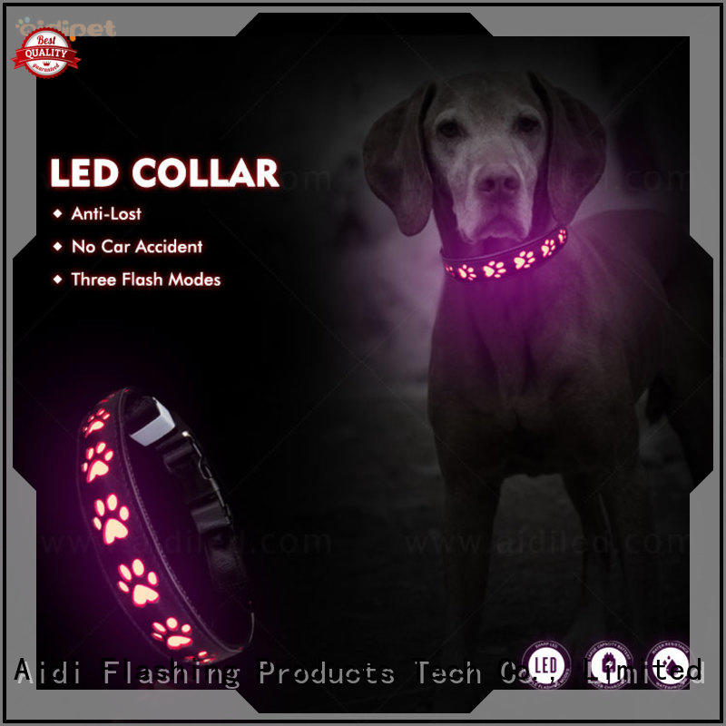 AIDI rechargeable best light up dog collar with good price for outdoors