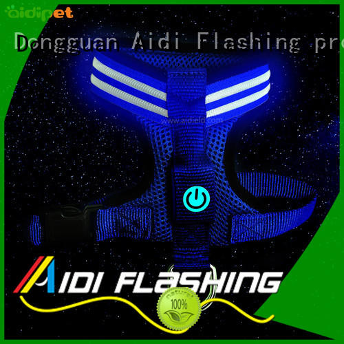 AIDI reflective glow in the dark dog harness illuminated for park