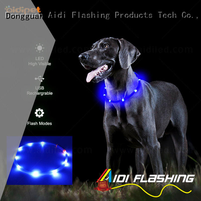 AIDI remote led dog collar factory for park