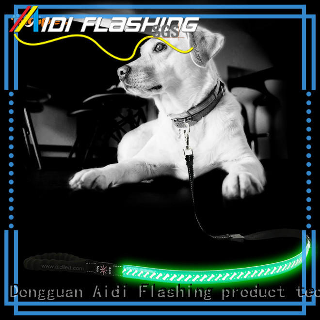 AIDI reflective light up dog leash factory for outdoors
