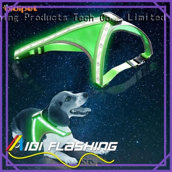 AIDI nylon light up dog harness manufacturer for pet