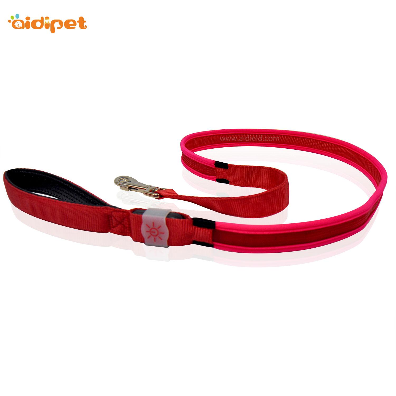 AIDI-Rainbow Light Nylon Rechargeable Led Dog Leash AIDI-L2-1
