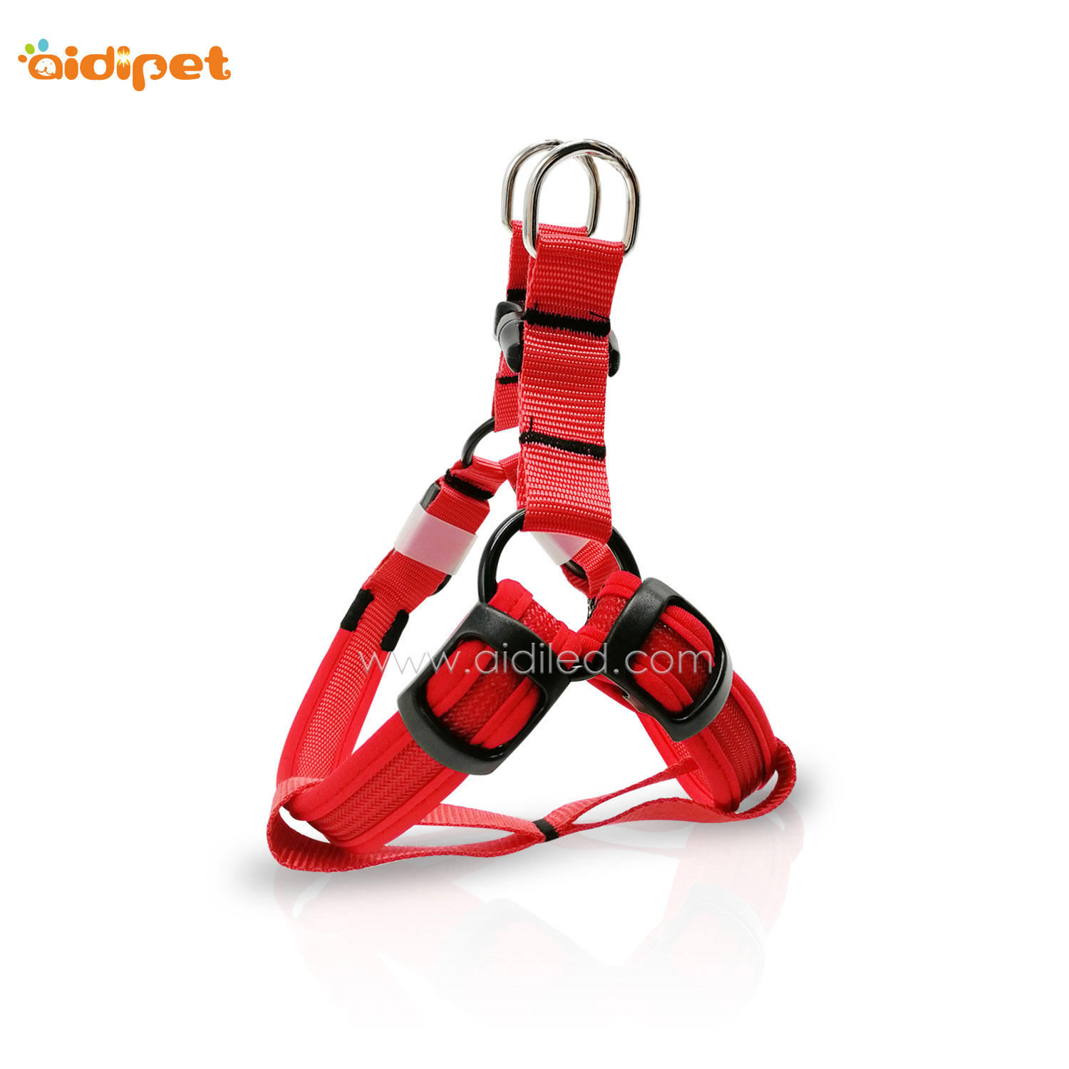 Colorful Soft Rechargeable Led Dog Harness AIDI-H2
