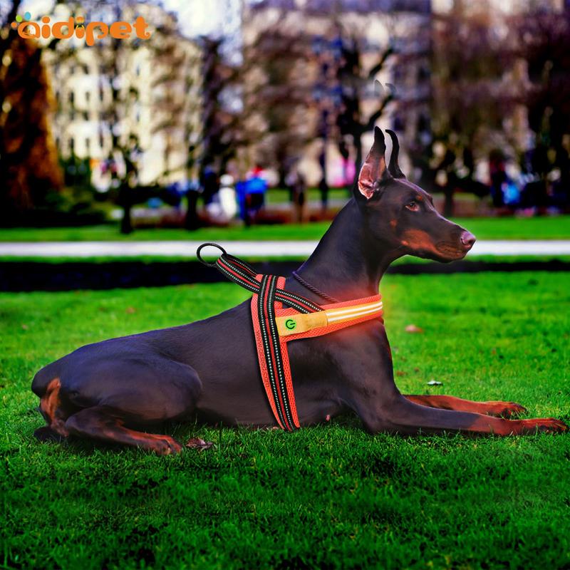 led dog harness vest for street AIDI
