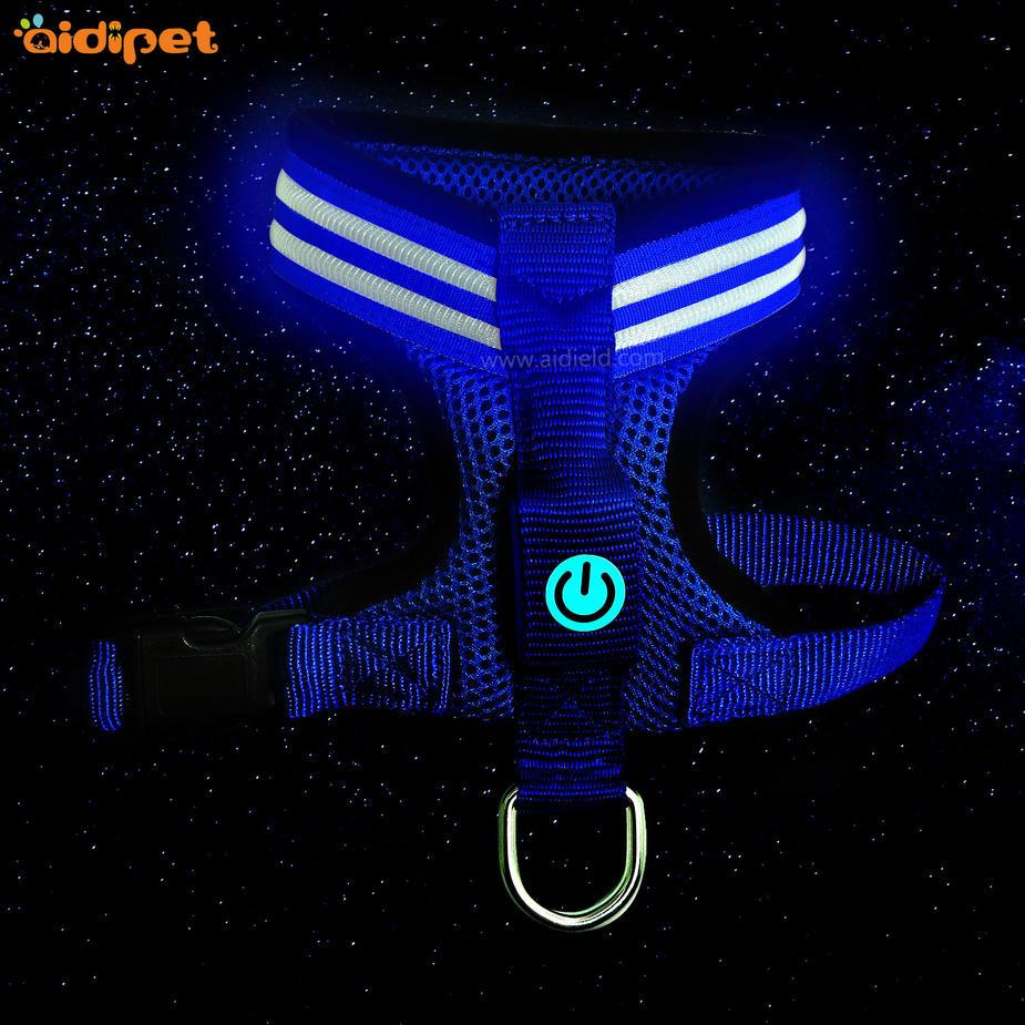 USB Rechargeable LED Flashing Dog Harness Vest   AIDI-H4