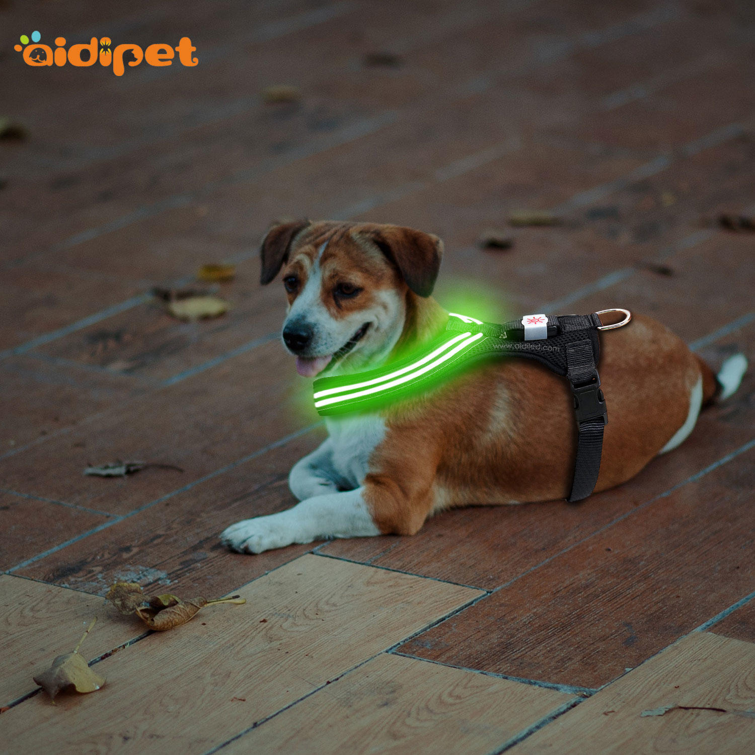 USB Rechargeable LED Flashing Dog Harness Vest   AIDI-H4