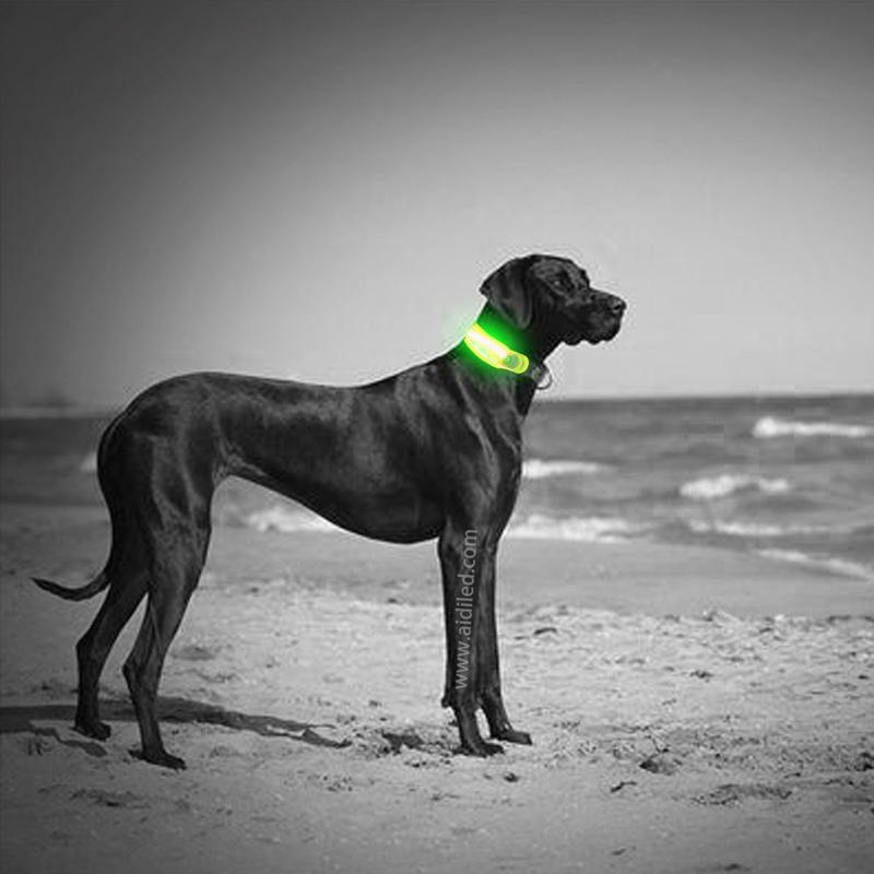 flashing dog collar light led for pet AIDI