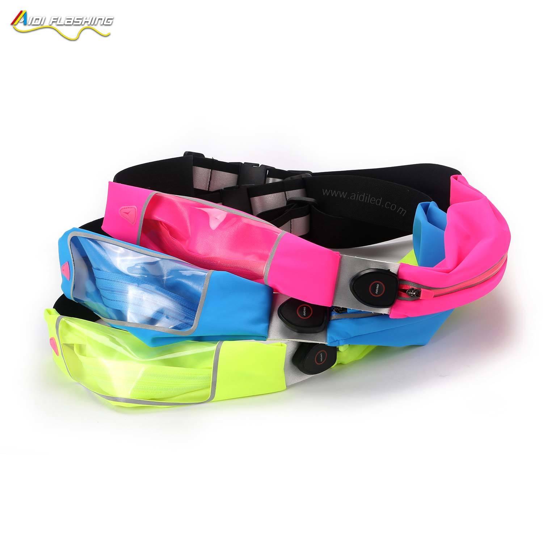 Led outdoor sport waist bag running bum bag AIDI-S16