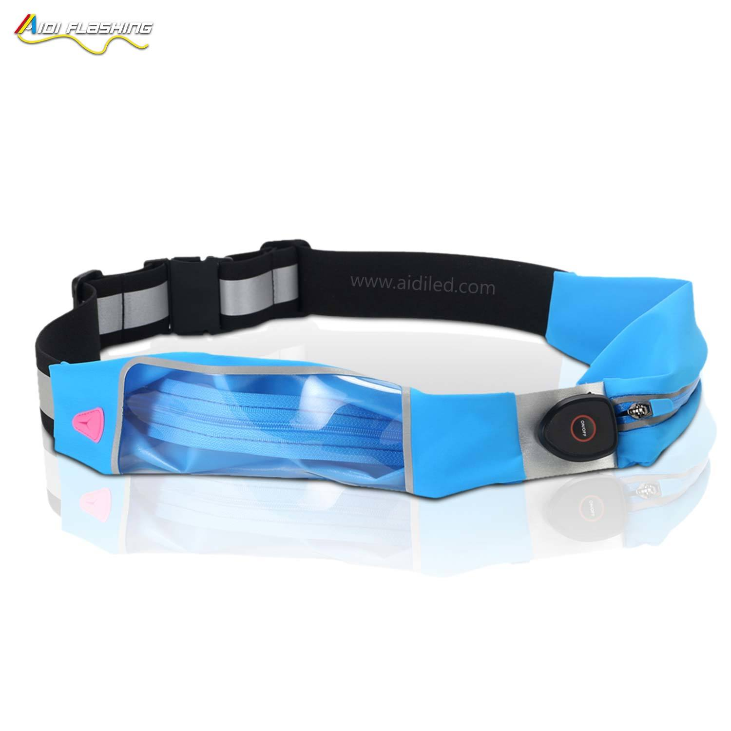 Led outdoor sport waist bag running bum bag AIDI-S16
