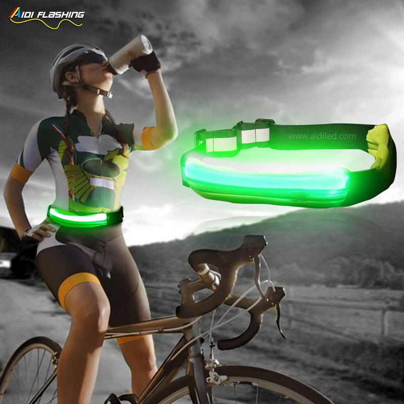 Led outdoor sport waist bag for night safety (single bags) AIDI-S17
