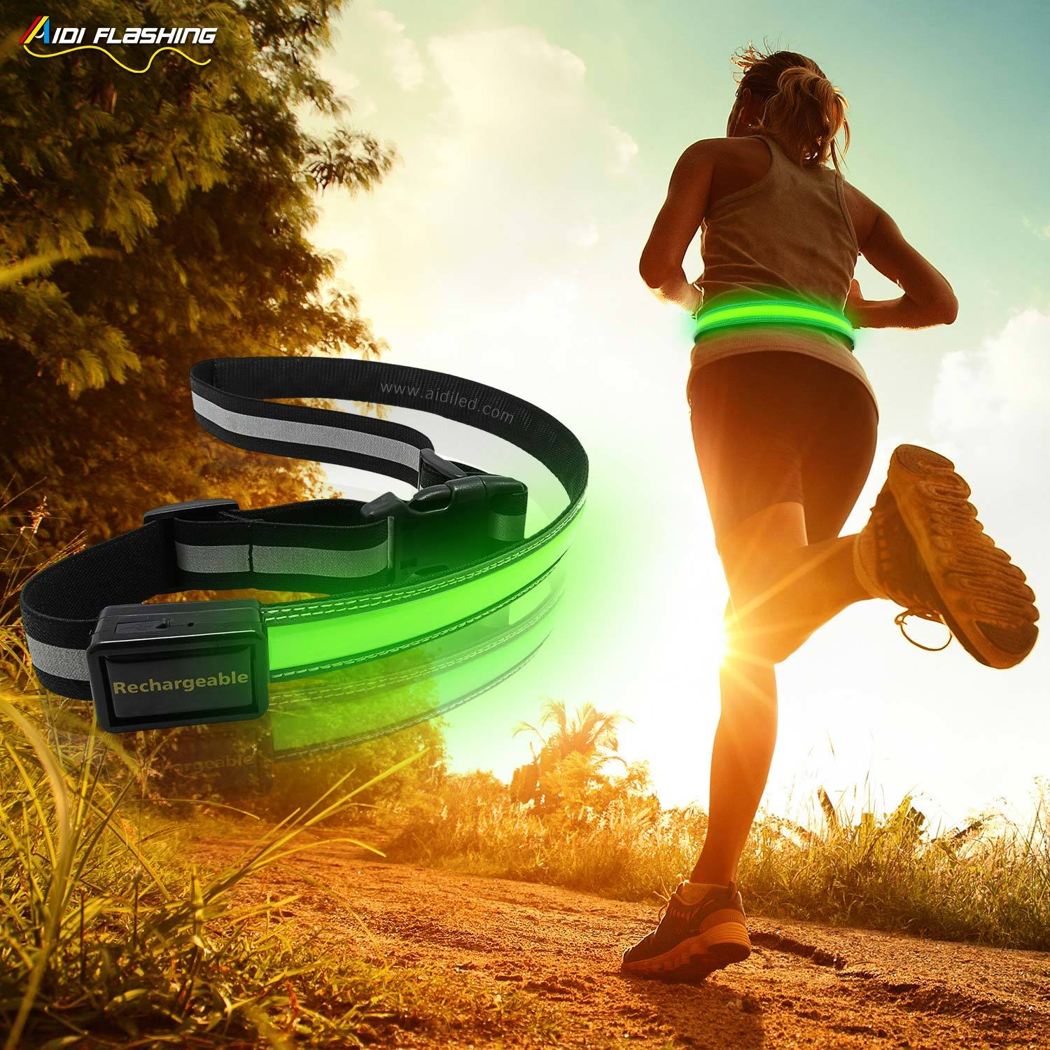 Led outdoor sport waist belt (for children) AIDI-S13