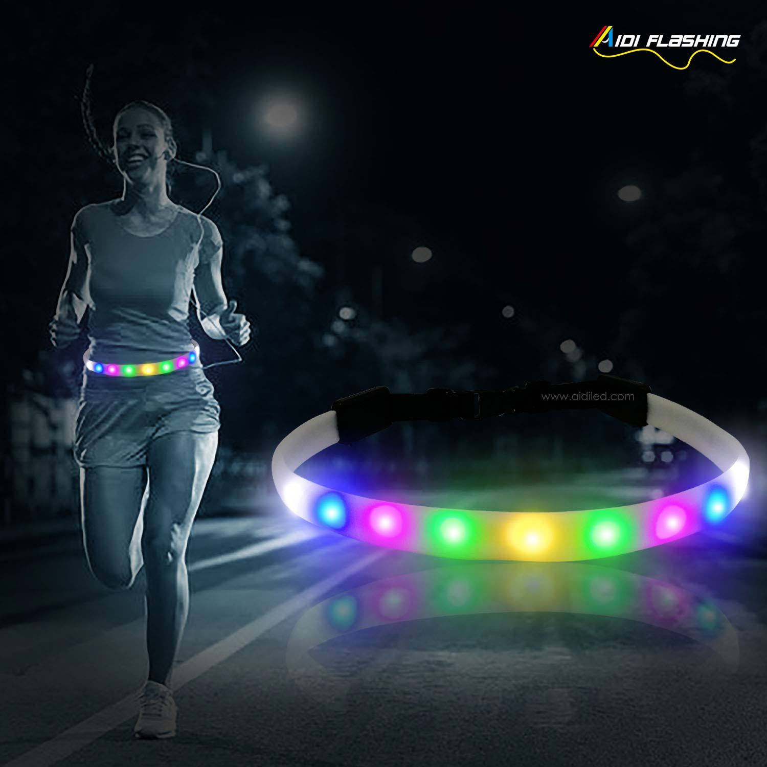 led jogging waist belt for riding safety(for adults) AIDI-S14
