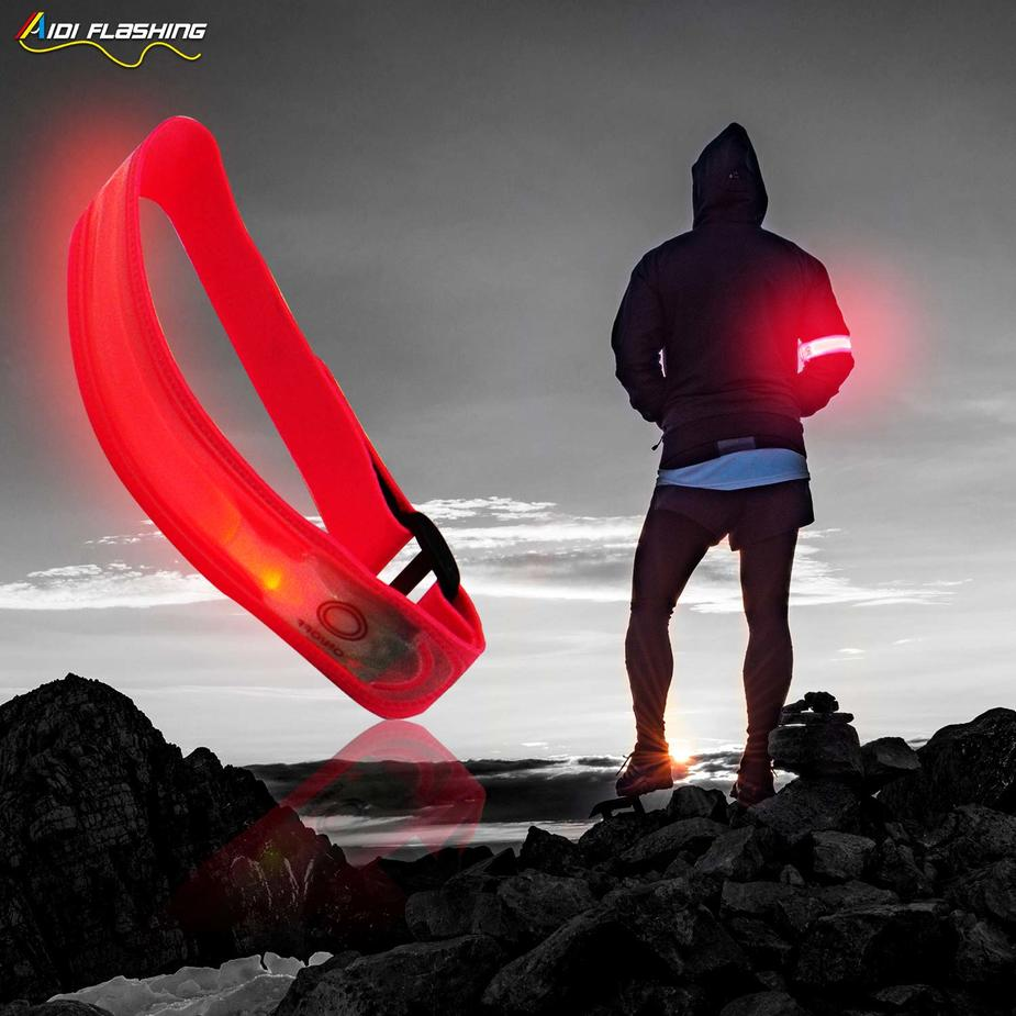 Led light up reflective armbands for sport AIDI-S10