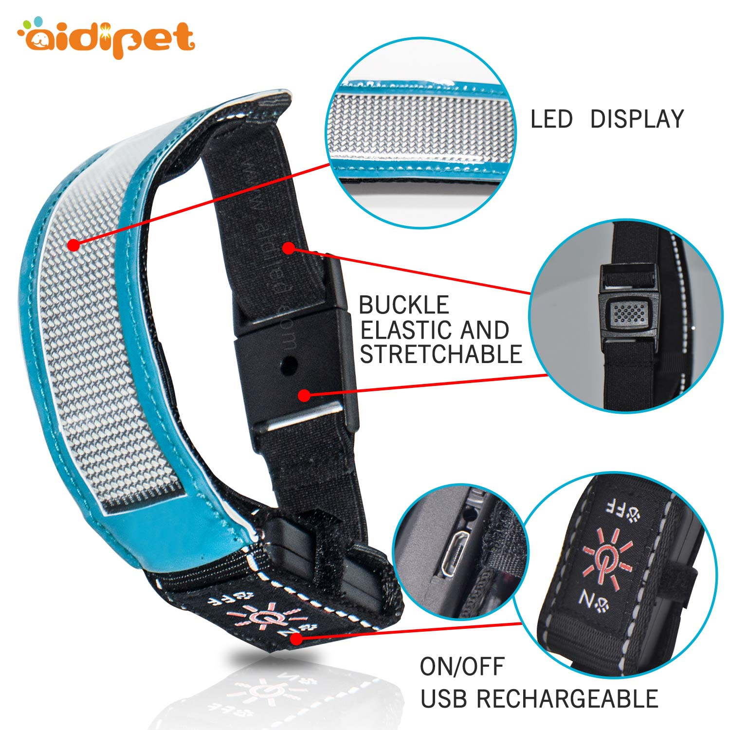 AIDI-safety armband | Led arm band | AIDI