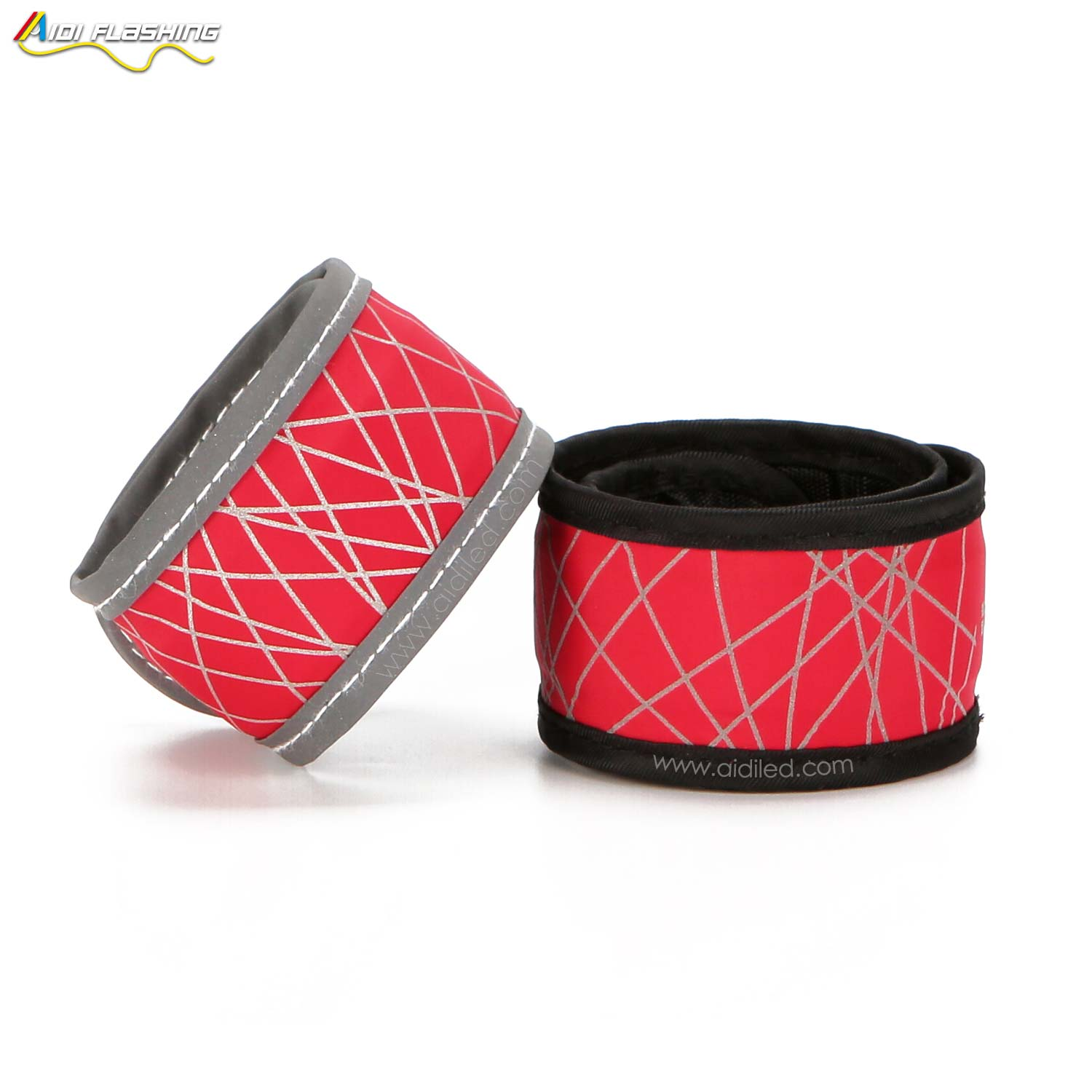 AIDI-Led slap band with reflective printing for adults AIDI-S8-1