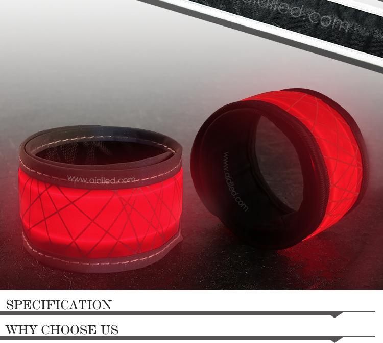 -Led Hot-pressing Slap Band With Reflective Printing Aidi-s7-shenghong-5