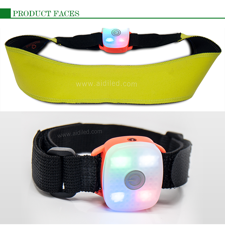 AIDI black glow in the dark sweatband factory price for outdoor
