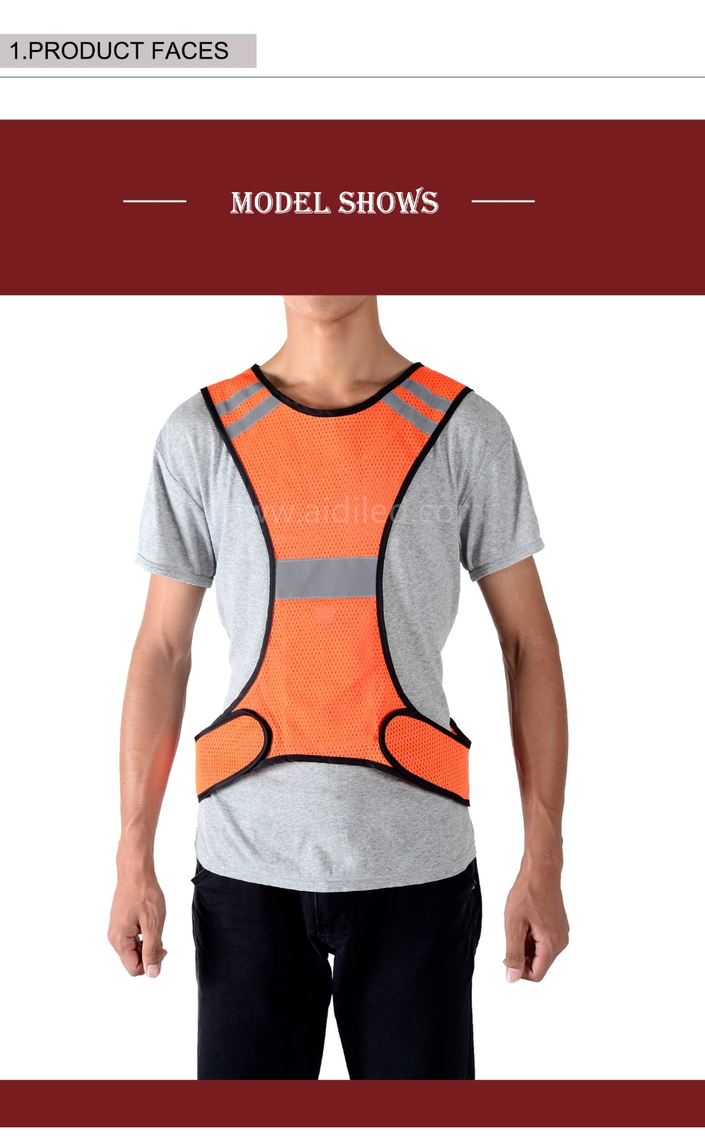 -| Led Outdoor Sports Safety Vest Aidi-s11 - Shenghong-2