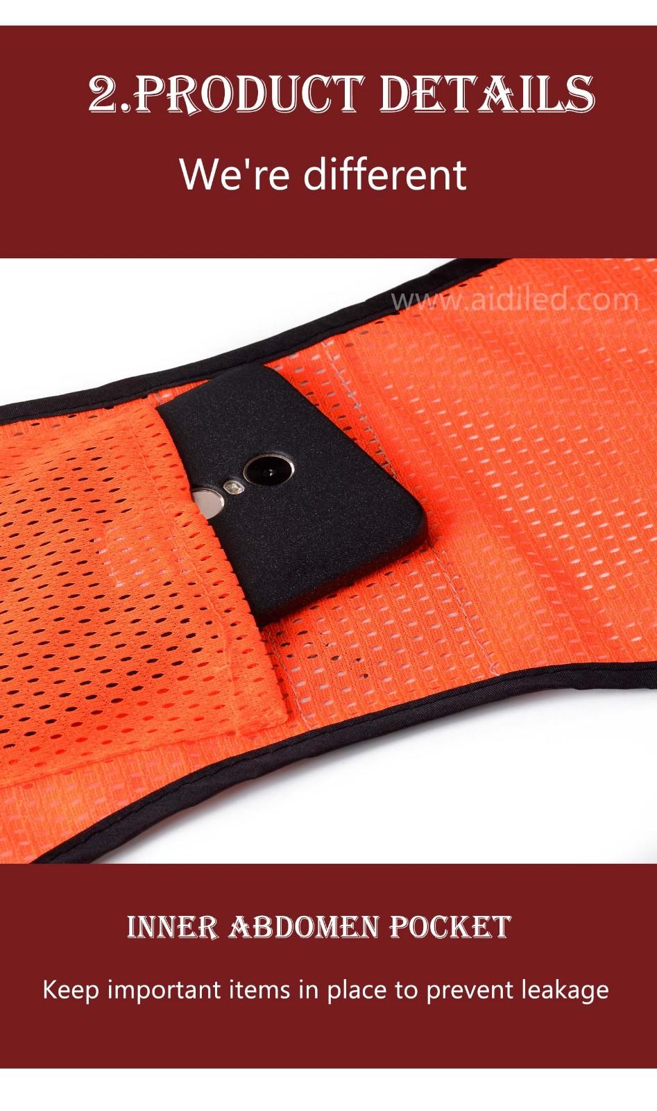 Led outdoor sports safety high visibility  vest AIDI-S11