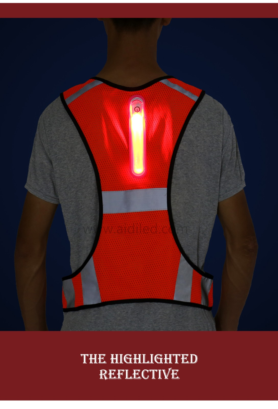 -| Led Outdoor Sports Safety Vest Aidi-s11 - Shenghong-3