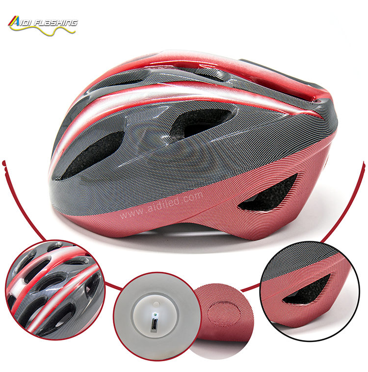 -Led Light Up Smart Helmet For Bicycle Riding Aidi-s18-shenghong-4