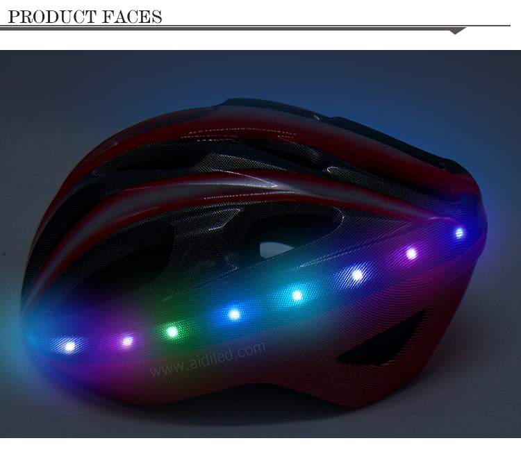 -Led Light Up Smart Helmet For Bicycle Riding Aidi-s18-shenghong-5