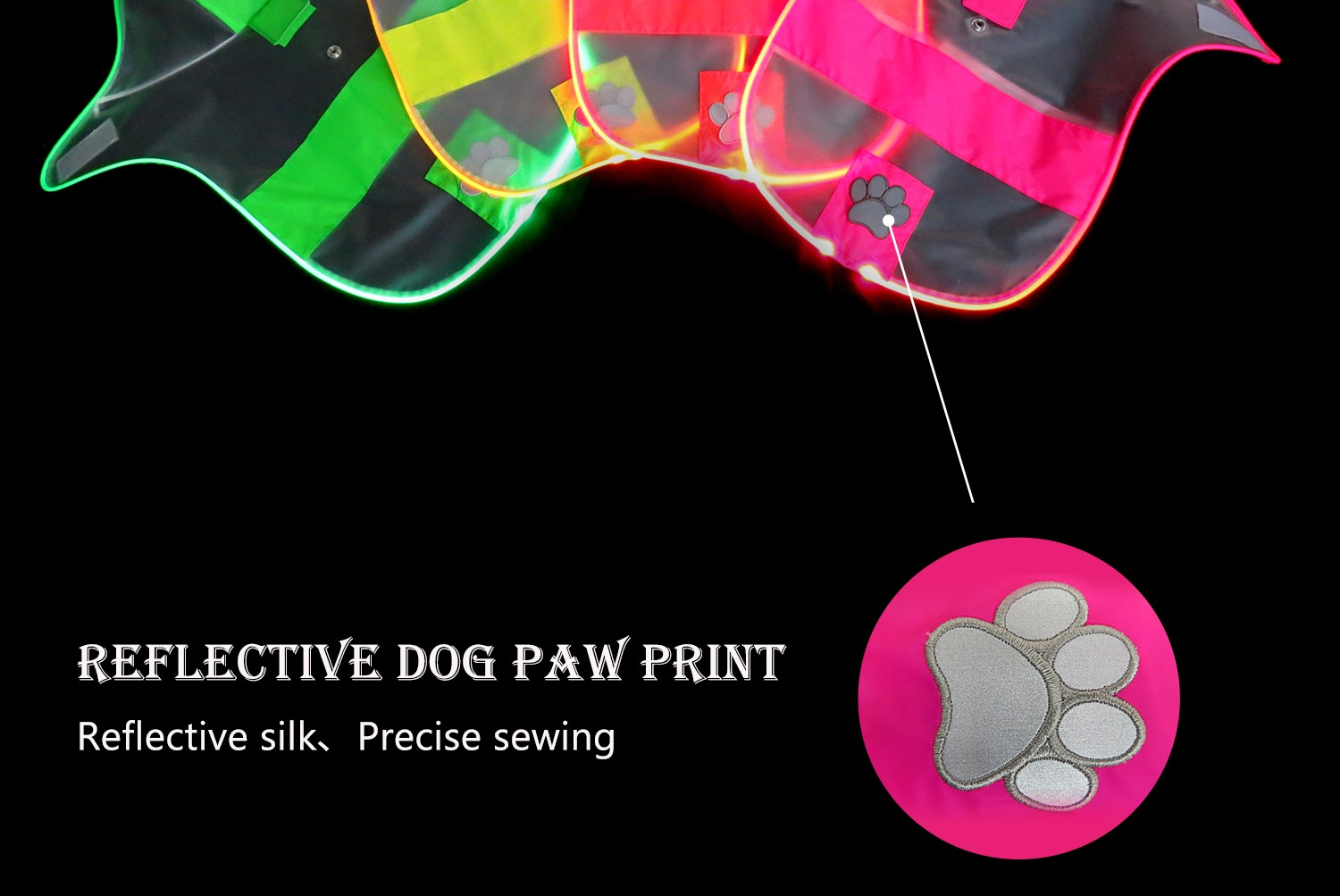 colorful glowing dog harness directly sale for street-6
