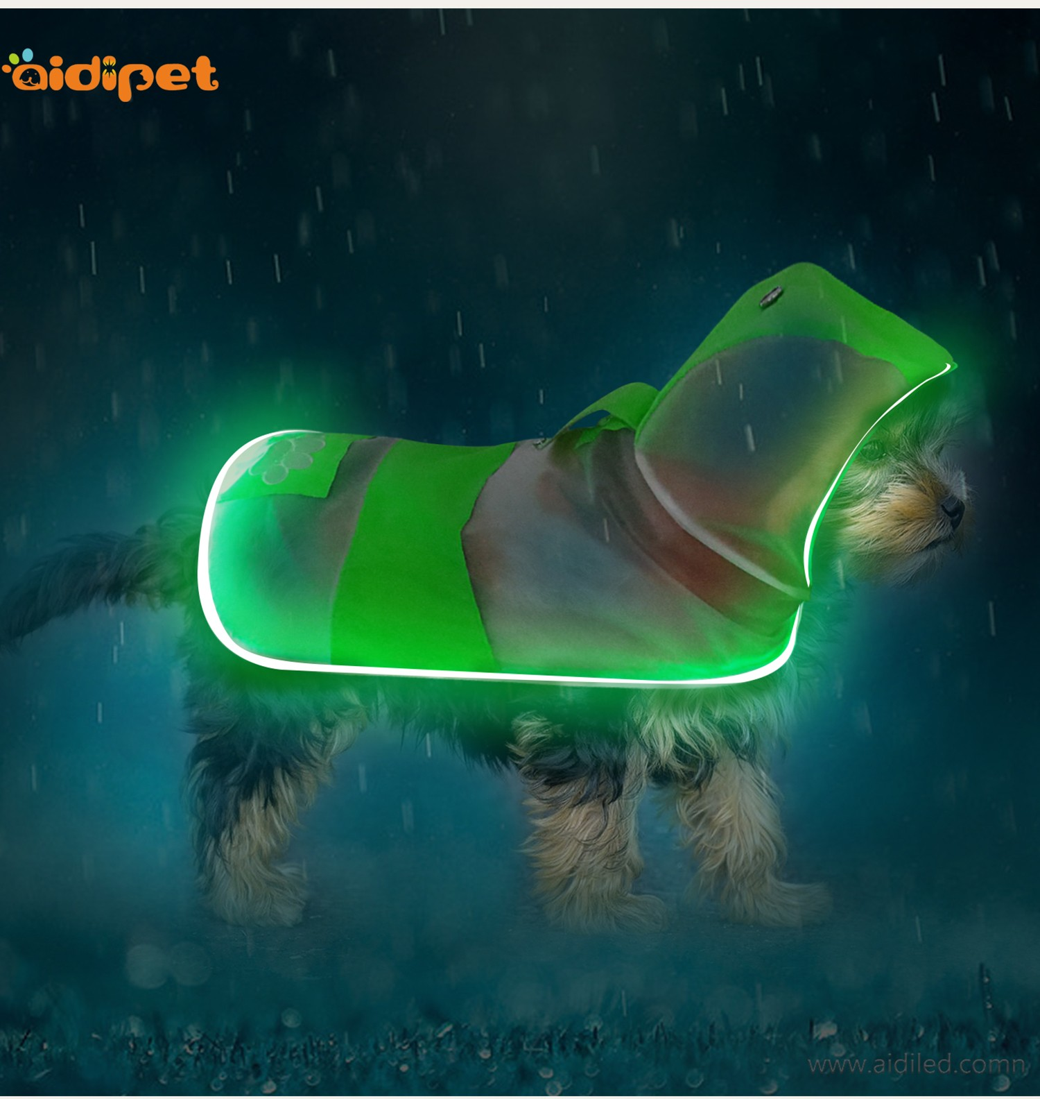 colorful glowing dog harness directly sale for street-9