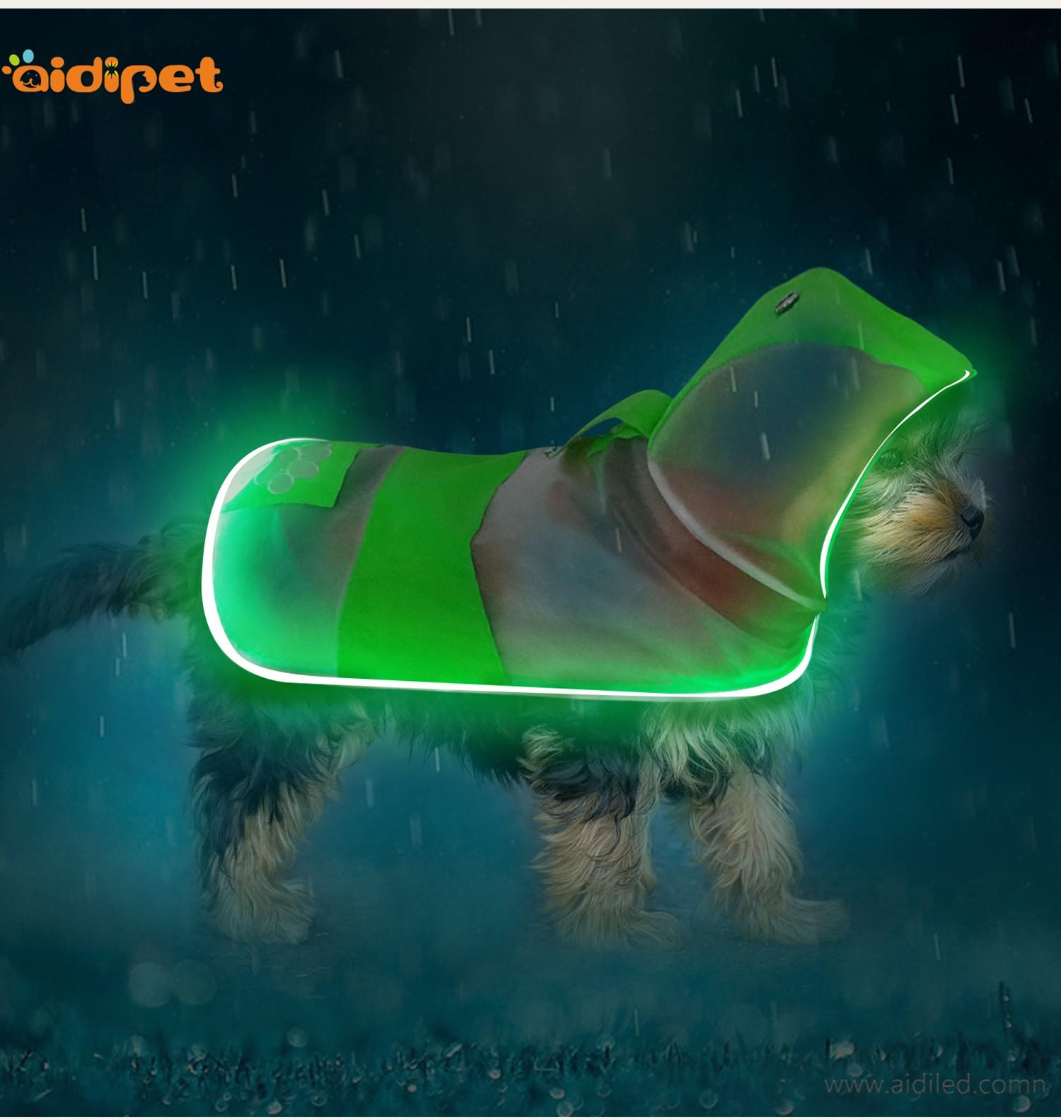 colorful glowing dog harness directly sale for street