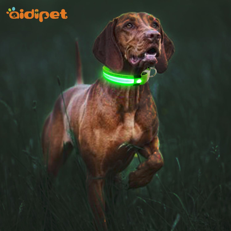 AIDI-Best Best Light Up Dog Collar Nylon Reflective Rechargeable Led Dog Collar-1
