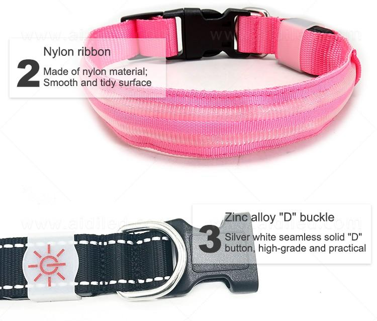 AIDI led dog collar with good price for outdoors