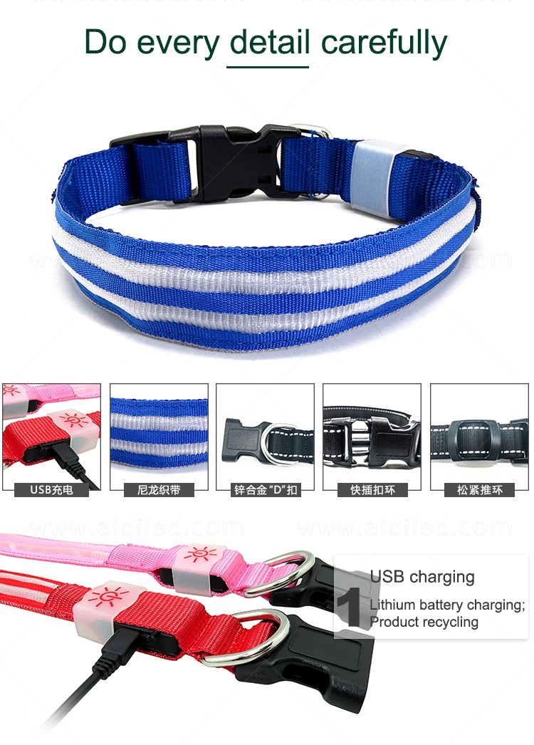 AIDI led dog collar with good price for outdoors-10