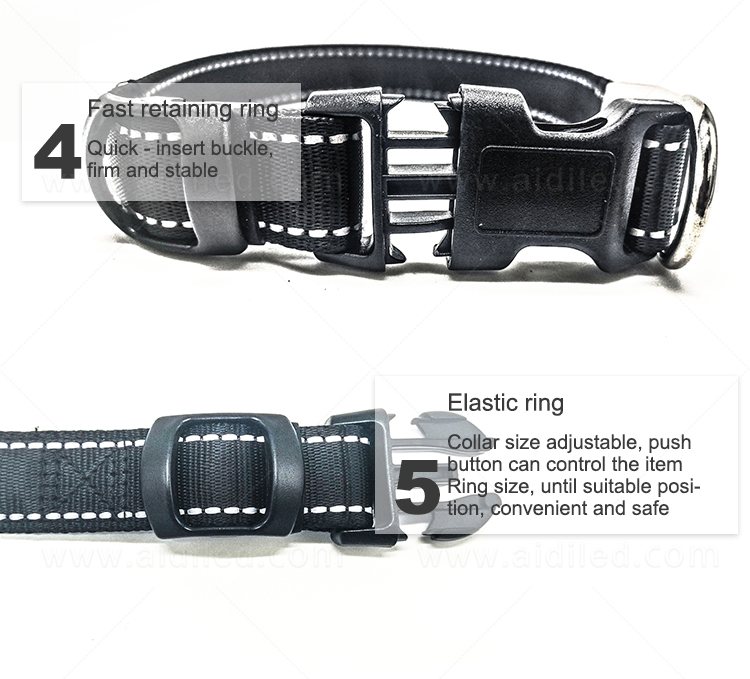 AIDI led dog safety collar design for park-11